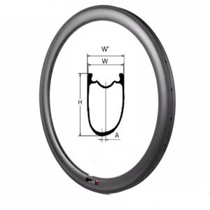 Carbon velg 50mm TLR asymmetrisch R50-AS-TLR-U-25/27